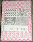 SUMERSAULT PINK FITTED CRIB SHEET,   CASTLE HILL CASTLE BONAIRE PINK