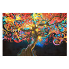 Psychedelic Abstract Art Silk Cloth Poster Art Print Home Wall Decor 50cm 33cm