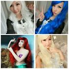 Womens Curly Hair Long WAVE Multi-Color Hair Costume Cosplay Party Costume Wigs