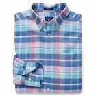 Gant Shirt - Gant Men's Madras Plaid Check Shirt Persian Blue