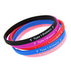 Women Men Type 1 Diabetic Silicone Wristband Medical Bracelet Bangle Gift