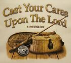 CHRISTIAN OUTFITTERS CAST YOUR CARES UPON TH LORD HOODED SWEATSHIRT #1142 HOODIE