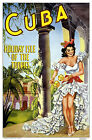 Visit CUBA . Holiday Isle of the Tropics... Vintage Travel Poster A1A2A3A4Sizes