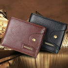 Men's Bifold Leather Credit ID Card Holder Wallet Coin Pocket Billfold Purse