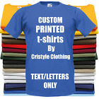 Custom Printed Personalised T-Shirt Childrens Kids Unisex 19 Colours