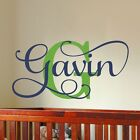 Boys Name Wall Decal Baby Nursery Bedroom Decor Removable Vinyl Made in USA