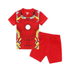 Kids Boys Clothes Marvel Spiderman Costume T-shirt Top + Shorts Pants Outfit Set
