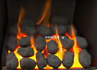 Gas Fire Replacement Coals Ceramic Oval Coal Cast Finest Quality Welsh made Coal