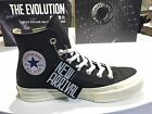 Converse Chuck Taylor All Star '70 Black Egret Black Leather HI Shoes 155448C