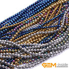 Wholesale Lot Assorted Colors Metallic Coated Reflections Hematite Round Beads