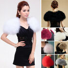 100% Real Ostrich Feather Fur Cape Shrug Jacket Wedding Bolero Bridal Sale Price