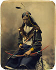 Ogala Lakota 1899 Sioux Council Chief Bone Necklace Native American Indian Print