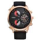 Luxury Men's Stainless Steel Automatic Mechanical Date Day Leather Wristwatches