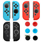 Silicone Case Cover Skins for Nintendo Switch Joy-Con Controller + Grips Caps