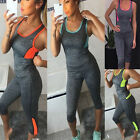 Women Sports Gym Yoga Vests & Leggings Fitness Workout Top Athletic Clothes Set