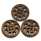 Flower - snowflake Design Wooden Buttons 25mm. Ideal for sewing and crafts