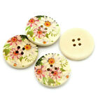 Pretty Daisy Flower Design Wooden Buttons 30mm.  Ideal for sewing and crafts