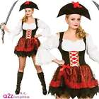 Womens Sexy Charming Pirate Buccaneer Adult Fancy Dress Costume UK Sizes 6-20
