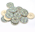 Blue & Green Paisley Design Wooden Buttons 30mm. Ideal for sewing and crafts
