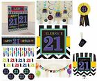 CHEVRON Age 21 - Happy 21st Birthday PARTY ITEMS Celebrate Decorations Tableware