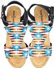 "Minnetonka Moccasin Duffy Aztec With 3"" Cork Wedge Sandals 9 Or 10 Style #71318"