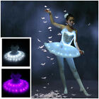 Luminous Dance Fluorescent Ballet Skirt child Adult Performances LED Dress Star