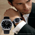 Hot Men Watches Large Dial Business Leather Band Analog Quartz Wrist watches