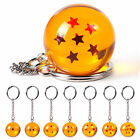 2.7cm Dragon Ball Z  Keyring DBZ Cosplay Crystal Ball 1-7 Stars Keychain Pendant