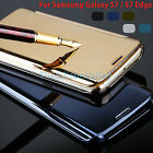 For Samsung Galaxy S8 / S8 Plus S7 Edge Luxury Mirror Clear View Slim Case Cover