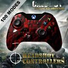 Xbox One/S/X Red Zombie Arbiter 4 Rapid Fire 2 Carbon Paddle Controller COD WW2