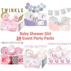 24 Guest Baby Shower Girl - Party Packs includes Decorations, Games, Tableware