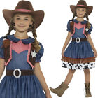 Girls Cowgirl Dress Texan Brown Red Hat Childrens Costume Outfit Smiffys 21482