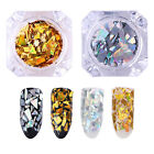 BORN PRETTY Laser Nail Art Sequins Holographic Gold Silver Glitter  DIY