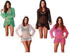 Mesh Cover Up Swimsuit Summer Swimwear Knit Crochet Hoodie Beachwear