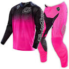 NEW 2016 TROY LEE DESIGNS SE AIR STARBURST GEAR COMBO FLO PINK/BLACK SIZE 32/LRG