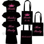 HEN PARTY BRIDE TO BE BRIDESMAID T SHIRT TOP TOTE BAG PARTY DO GIRLS NIGHT OUT
