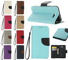 NEW Leather Personalised Color Flip Wallet Case & Hand Rope for Samsung J5 2017