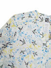 Ladies New exPer Una M&S Ivory Bird Print Casual Blouse Top Size 12-24