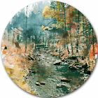 Design Art 'Rocky River' Oil Painting Print on Metal