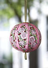 Duckling Card - PINK ROSES HANGING BALL - DK-2302-09-01