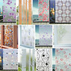 Внешний вид - Frosted Floral Static Cling Stained Glass Door Window Film Sticker Privacy Decor