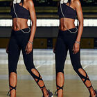 Womens Sports Yoga Bandage Running Fitness Workout Gym Tights Pants Fashion S605