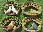 Garden Welcome Plaque Garden Bird Hanging Welcome Plaque - NEW