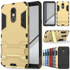 For LG Phoenix 3 (AT&T) Case Rugged Armor Hybrid Protective Cover With Kickstand