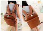 Korean Girl Travel Computer Backpack Casual PU Shoulder College Student Bookpack