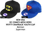 NEW ERA DC COMICS MESH HERO YOUTH 9FIFTY SNAPBACK CAP - BATMAN/SUPERMAN