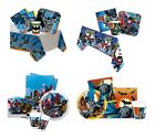 PARTY PACKS - Licensed BATMAN Ranges (Birthday/Tableware/DC Comics/Super Hero)