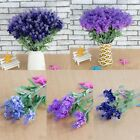 10 Heads Lavender Flowers Silk Artificial Bouquet Wedding Party Home Decor Craft