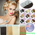 100% Real Remy Human Hair Extensions Seamless Tape in Skin Weft Hair 20/40Pcs AU