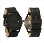 Matte Leather Calendar Men's Simple Fashion Outdoor Wrist Watches Alloy